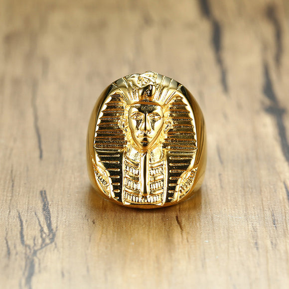 Stainless Steel Egyptian Pharaoh Ring