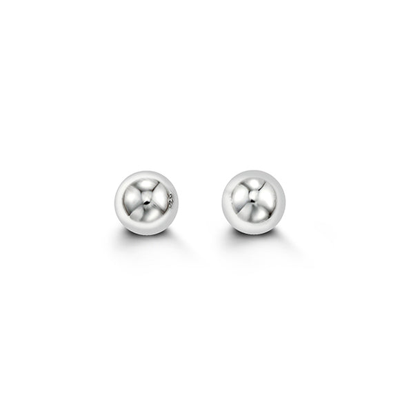 WhiteGold Ball Studs 6mm