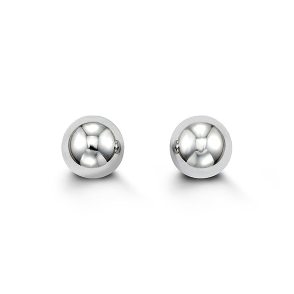 WhiteGold Ball Studs 8mm