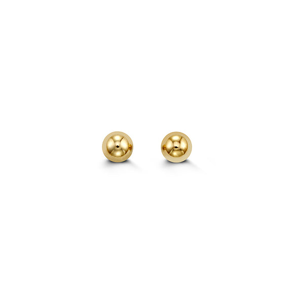 YellowGold Ball Studs 4mm