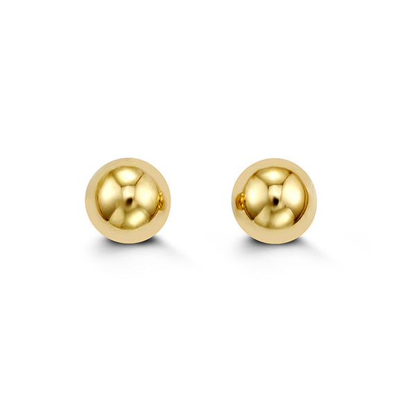 YellowGold Ball Studs 8mm