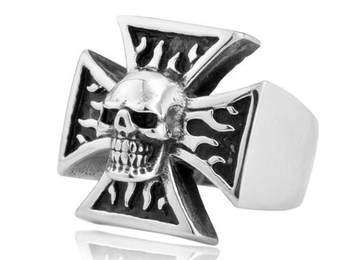 Skull Head Chopper Ring
