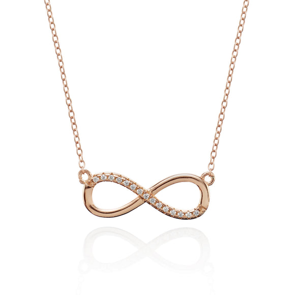 RoseGold Infinity Necklace