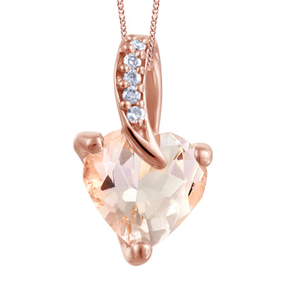 RoseGold Pink Morganite and Diamonds