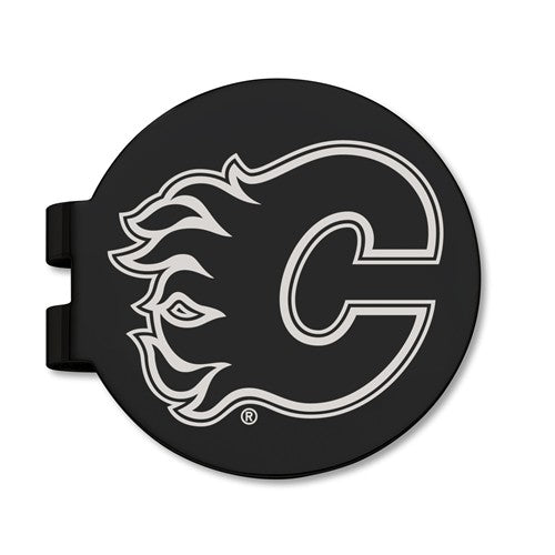 Black Stainless Steel Calgary Flames Money Clip