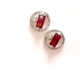 Garnet Gem Earrings