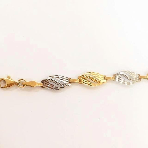 Two-Tone Fancy Diamond Cut Bracelet