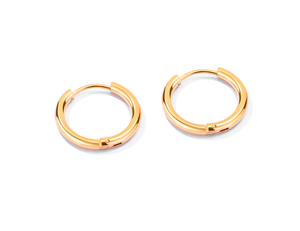 14mm Gold Stainless Steel Hoops