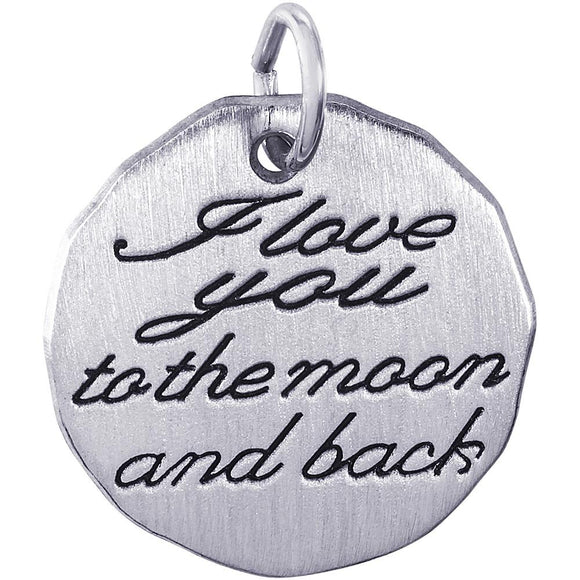 I LOVE YOU TO THE MOON AND BACK CHARM TAG