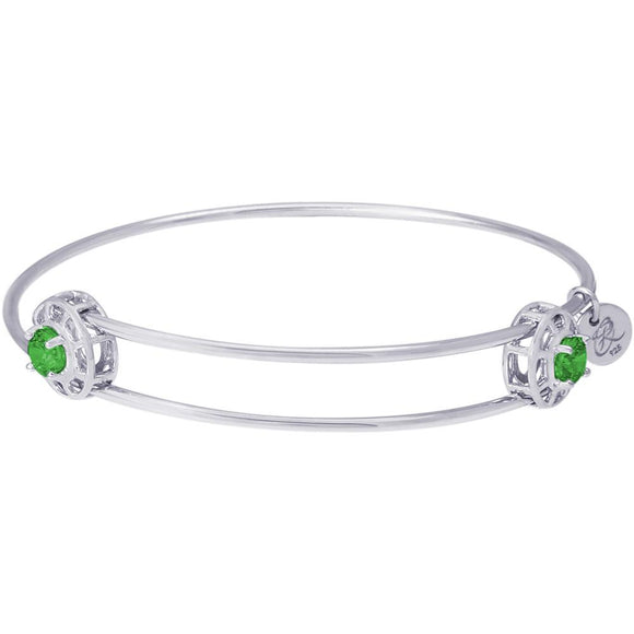 Green Gemstone  Bangle