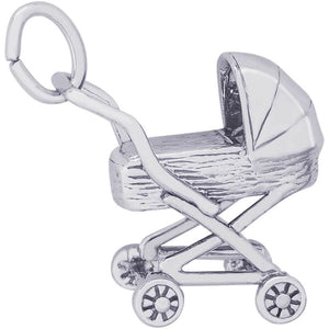TRADITIONAL BABY CARRIAGE CHARM