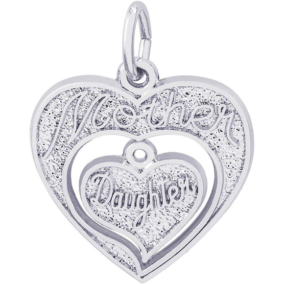 MOTHER DAUGHTER HEARTS CHARM