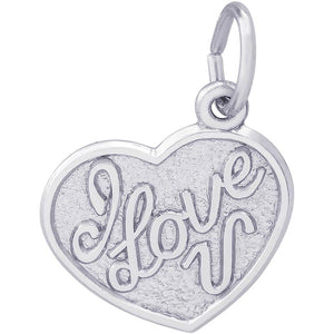 I LOVE YOU HEART CHARM