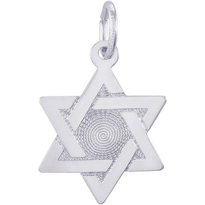 STAR OF DAVID WITH BROCADE CENTER CHARM