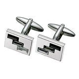 Black and Clear Swarovski Cufflinks