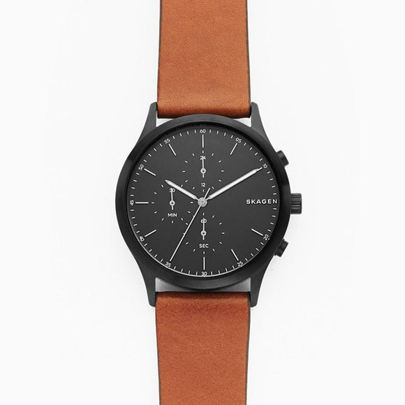Skagen Jorn Brown Leather Chronograph