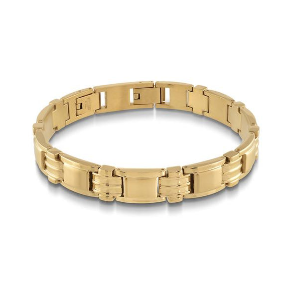 Gold Plated Stainless Steel Links Bracelet