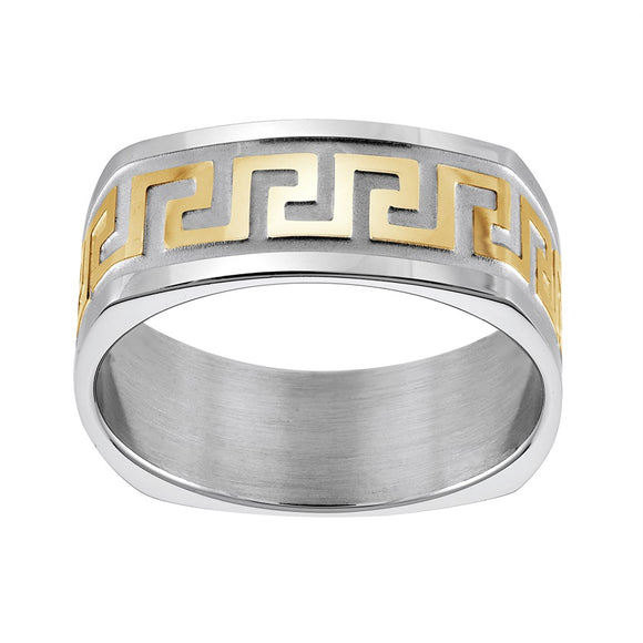 Greek Key Square Ring