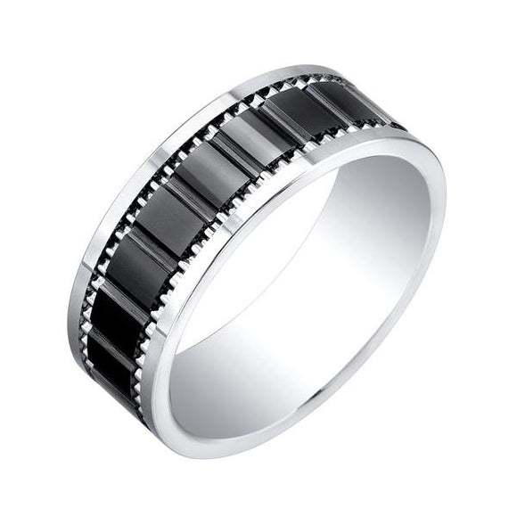 Titanium,Tungsten and Ceramic Band
