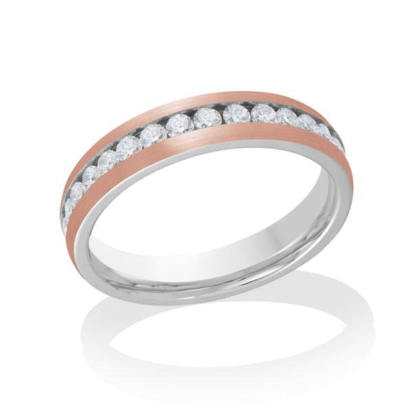 Rose Steel Eternity Band