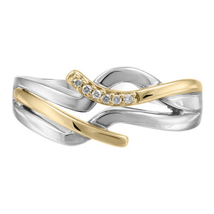 (0.038Cttw) Gold and Silver Canadian Diamond Ring