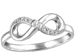 (0.033cttw) Whitegold Infinity Ring
