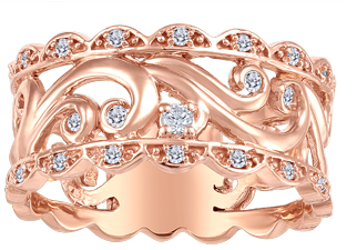 (0.04cttw) Rosegold Anniversary Band