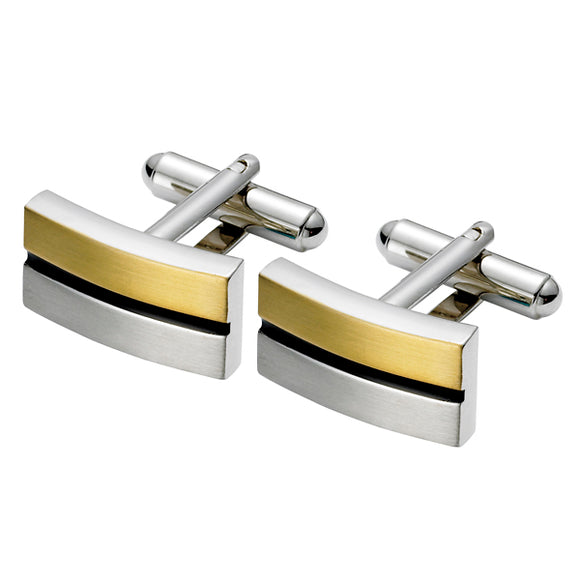 Gold and Steel Cufflinks