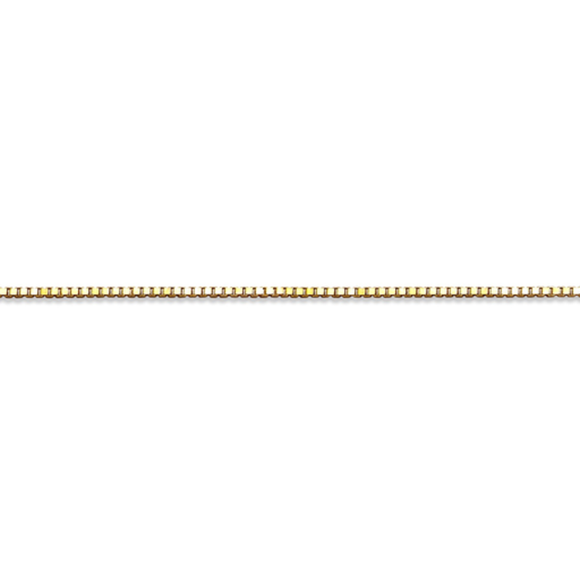 10K Yellowgold Box Chain Box (0.5mm) 20