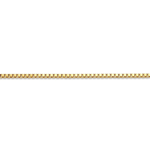 10K Yellowgold Box (1.5mm) 16 to 24 inches
