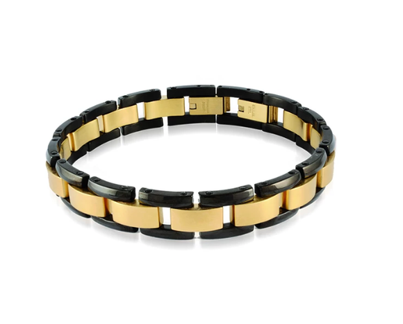 Black and Gold Two Tone Bracelet