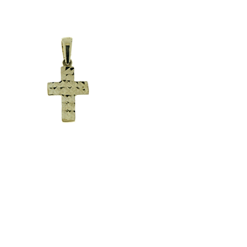 Diamond Cut Yellowgold Cross