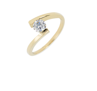 10K Yellow Gold Solitaire Ring