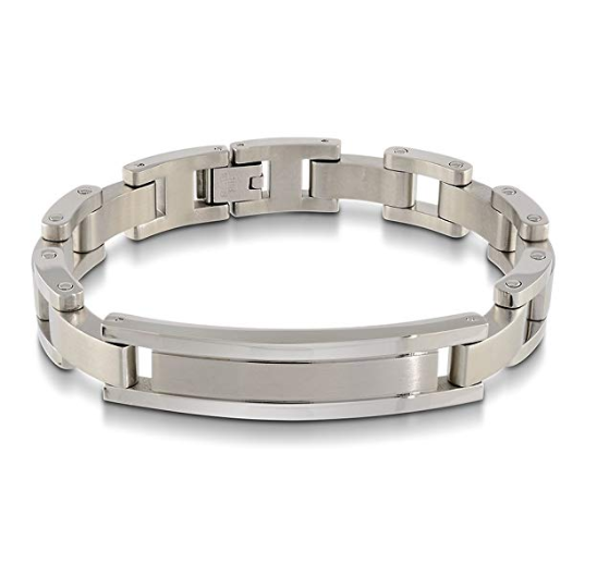 Stainless Steel Brushed ID Bracelet