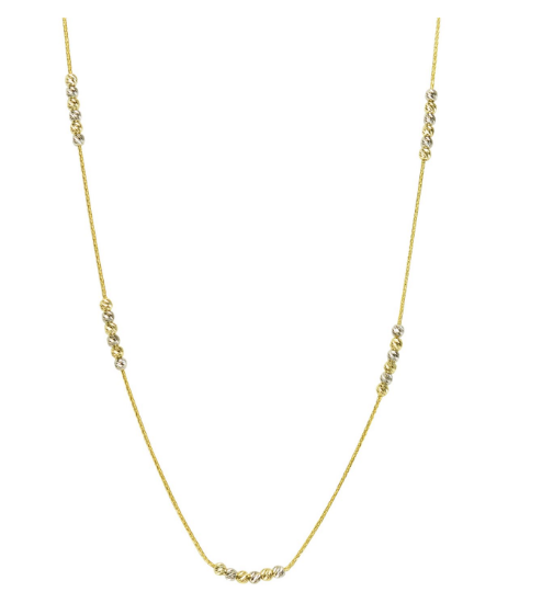 Two-Tone Diamond Cut Necklace