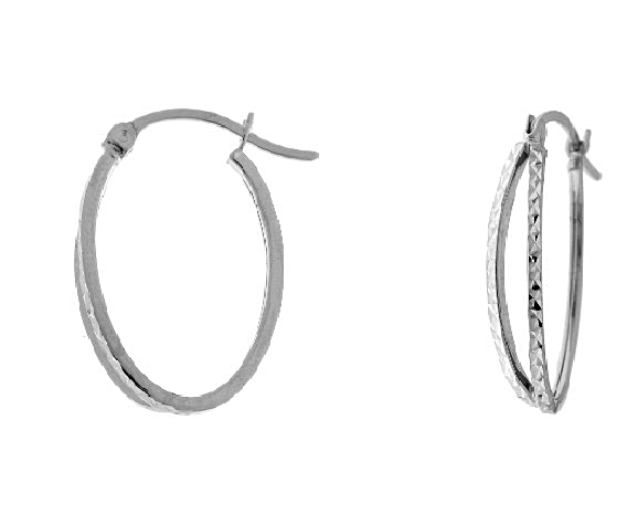 Fancy Whitegold Hoops