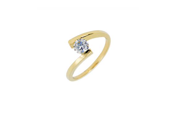 Yellow Gold CZ Band