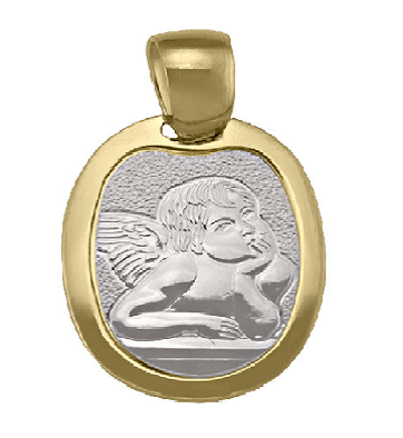 Two Tone Angel Pendant