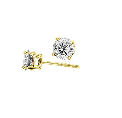 (.20cttw) Solitaire Diamond Studs
