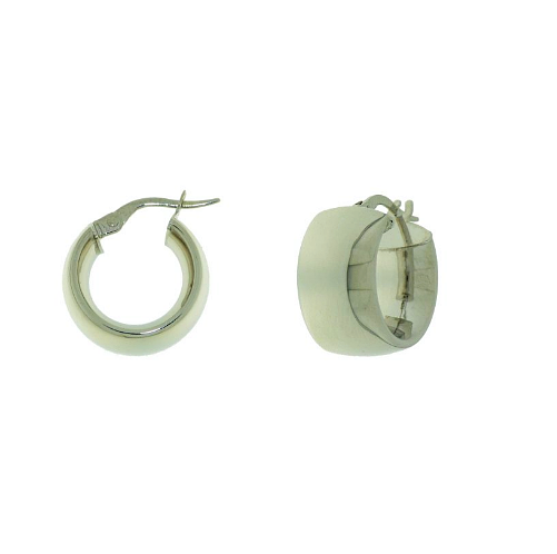 WhiteGold Hoops