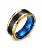 Tungsten Carbide Ring with Carbon Fiber