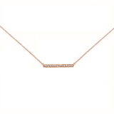 Sterling Silver CZ Bar Necklace