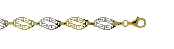 Two-Tone Greek key  Bracelet
