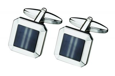 Grey Fiber Optic Glass Design Cufflinks