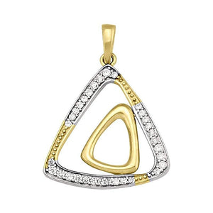 Two-Tone Triangle Fancy Pendant