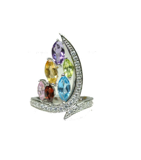 Multi Gem Ring