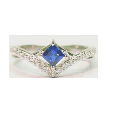 Synethic Sapphire Gem Ring