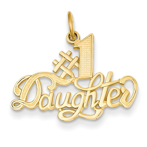 14k Yellowgold #1 Daughter Charm