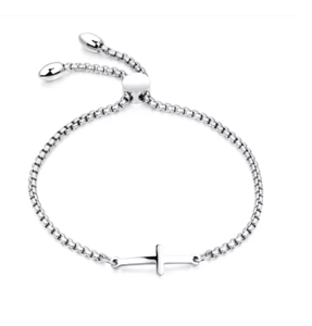 Stainless Steel Cross Adjustable Bracelet