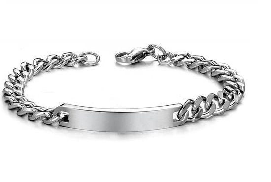6mm Stainless Steel Curb ID Bracelet